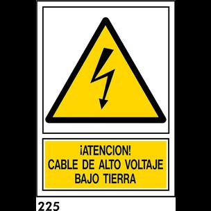 SEÑAL PVC NORM. A3 CAST. R-225 - ALT VOLTATGE