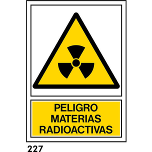 SEÑAL PVC NORM. A3 CAST. R-227 - MATERIES RADIOACT