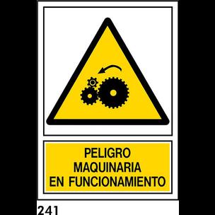 SEÑAL PVC NORM. A3 CAST R-241/J956 .MAQUINARIA EN.