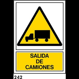 SEÑAL PVC NORM. A3 CAST R-242 - ....CAMIONES...