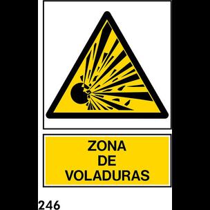 SEÑAL PVC NORM. A3 CAST R-246/J922 ....VOLADURAS.