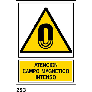 SEÑAL PVC NORM A3 CAST R-253 .CAMPO MAGNETICO.