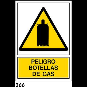 SEÑAL PVC NORM A3 CAST R-266/J953 .BOTELLA DE GAS.