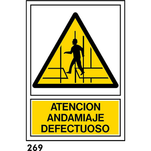 SEÑAL PVC NORM A3 CAST R-269 .ANDAMIO DEFEC....