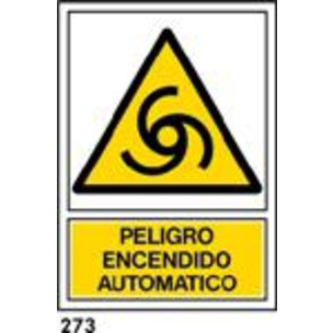 SEÑAL PVC NORM A3 CAST R-273 .ENCENDIDO AUTO....