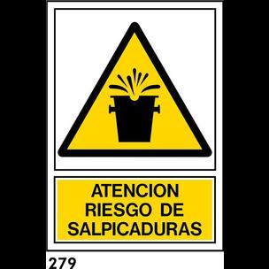 SEÑAL PVC NORM A3 CAST R-279 - SALPICADURAS