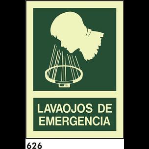 SEÑAL PVC NORM A3 CAST R-626 .LAVAOJOS.