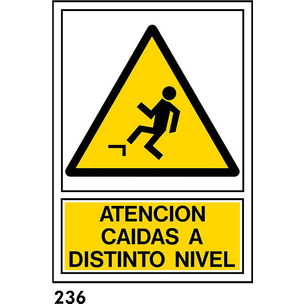 SEÑAL AL. NORM. A4 CAST R-236 - CAIDA DISTINTO NIV