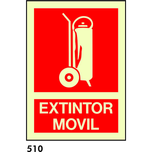 SEÑAL PVC FOTO BANDEROLA A4 R-510 - .EXTINTOR.