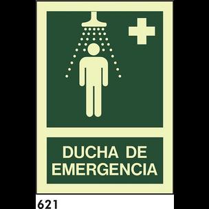 SEÑAL PVC FOTO A4 CAST R-621 - DUCHA DE EMERGENCIA