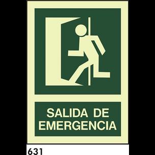 SEÑAL PVC FOTO A4 CAST R-631 -SALIDA DE EMERGENCIA