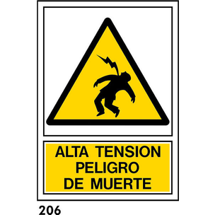 SEÑAL PVC NORM. A4 CAT. R-206 - PERILL DE MORT