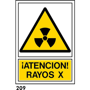 SEÑAL PVC NORM. A4 CAT. R-209 - RAJOS X