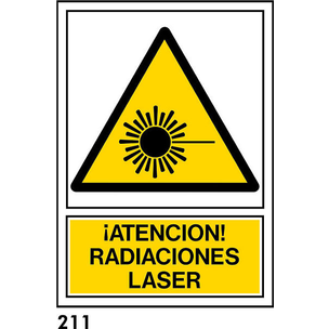SEÑAL PVC NORM. A4 CAT R-211 - RADIACIONS LASER