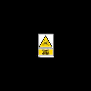 SEÑAL PVC NORM. A4 CAT. R-222 - GASOS TOXICS