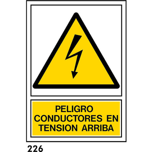 SEÑAL PVC NORM. A4 CAT. R-226 - TENIO A DALT