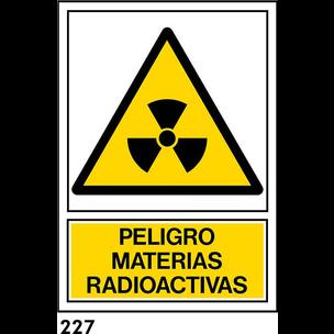 SEÑAL PVC NORM. A4 CAT. R-227 - MATERIES RADIOACTI