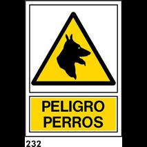 SEÑAL PVC NORM. A4 CAT. R-232 .PERILL GOSSOS. - NO CATALEG