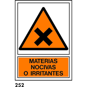 SEÑAL PVC NORM A4 CAT R-252 - .MATERIES NOCIVES.
