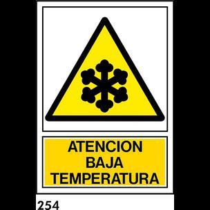 SEÑAL PVC NORM A4 CAT R-254 - .BAIXA TEMPERATURA.