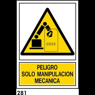 SEÑAL PVC NORM A4 CAT R-281 - .MANIPULACIO....