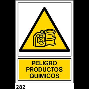 SEÑAL PVC NORM A4 CAT R-282 .PRODUCTES QUIMICS.