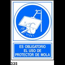 SEÑAL PVC NORM. A4 CAT R-335 - UTILITZAR PROTECTOR