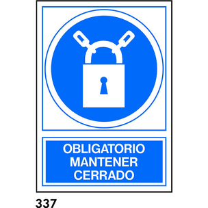 SEÑAL PVC NORM. A4 CAT. R-337 - MANTENIR TANCAT