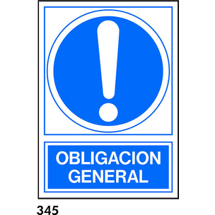 SEÑAL PVC NORM. A4 CAT. R-345 - OBLIGACIO GENERAL