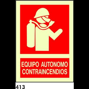 SEÑAL PVC NORMAL A4 R-413/C524 .EQUIPO AUTONOMO.