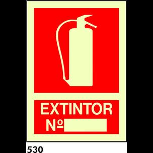 SEÑAL PVC FOTO A4 R-530 - .EXTINTOR Nº.