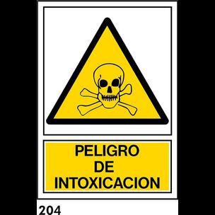 SEÑAL PVC NORM. A4 CAST. R-204 - INTOXICACION