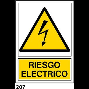 SEÑAL PVC NORM. A4 CAST. R-207 - RIESGO ELECTRICO