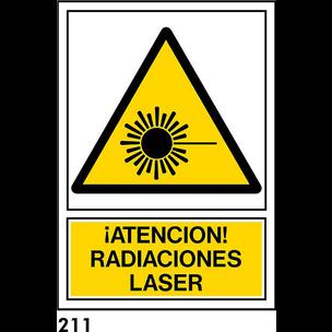 SEÑAL PVC NORM. A4 CAST. R-211 - RADIACIONES LASER