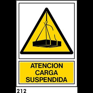 SEÑAL PVC NORM. A4 CAST. R-212 - CARGA SUSPENDIDA
