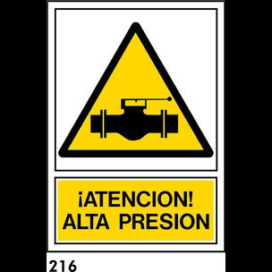 SEÑAL PVC NORM. A4 CAST. R-216 - ALTA PRESION
