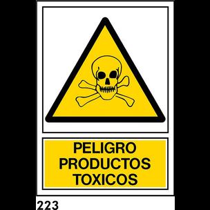 SEÑAL PVC NORM. A4 CAST. R-223 - PRODUCTOS TOXICOS