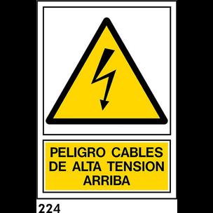 SEÑAL PVC NORM. A4 CAST. R-224 - ALTA TENSION ARRI