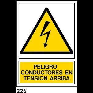 SEÑAL PVC NORM. A4 CAST. R-226 - CONDUCTORES TENSI