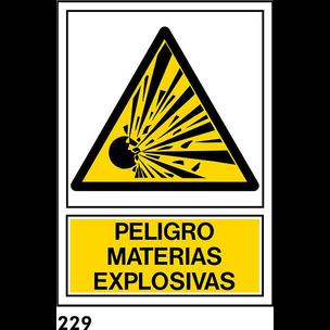 SEÑAL PVC NORM. A4 CAST. R-229 - MATERIAS EXPLOSIV