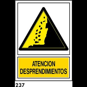 SEÑAL PVC NORM. A4 CAST. R-237 .DESPRENDIMIENTOS.