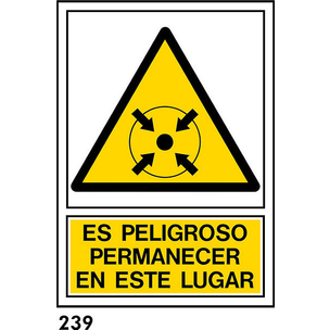 SEÑAL PVC NORM. A4 CAST R-239 - .PERMANECER EN.