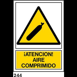SEÑAL PVC NORM. A4 CAST R-244 .AIRE COMPRIMIDO.