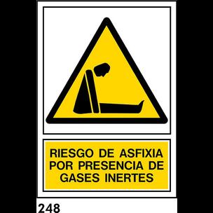 SEÑAL PVC NORM. A4 CAST R-248 .RIESGO ASFIXIA.