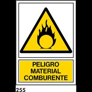 SEÑAL PVC NORM. A4 R-255 - MATERIAL COMBURENTE