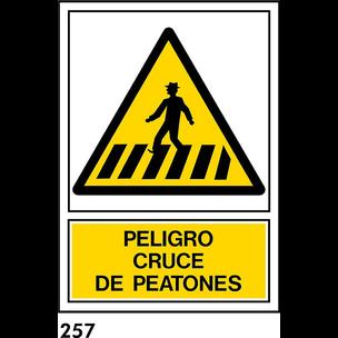 SEÑAL PVC NORM A4 CAST R-257 .PEATONES.