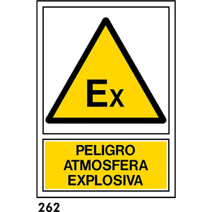 SEÑAL PVC NORM A4 CAST R-262 .ATMOSFERA EXPLOSIVA.