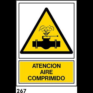 SEÑAL PVC NORM A4 CAST R-267 - AIRE COMPRIMIDO