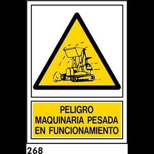 SEÑAL PVC NORM A4 CAST R-268 - .MAQUINARIA PESADA.