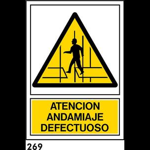 SEÑAL PVC NORM A4 CAST R-269 .ANDAMIO DEFEC....